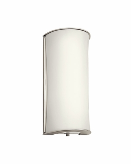 10693PN Builder Utilitarian Wall Sconce 1Lt Fluorescent (polished nickel)
