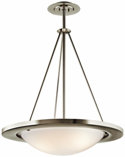 10725NI Kichler 3Lt Fluorescent Inverted Pendant Medium (DISCONTINUED ITEM!)