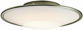 10729SI Kichler 2Lt Fluorescent Flush Mount (DISCONTINUED ITEM!)