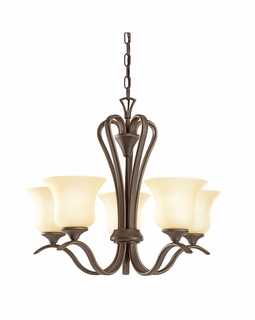 10740OZ Kichler Transitional Chandelier 5Lt Fluorescent Olde Bronze