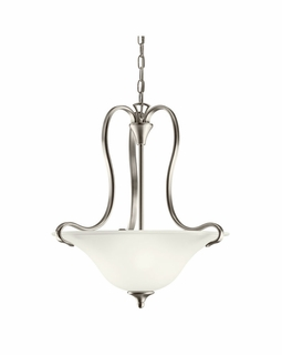 10742NI Kichler Transitional Wedgeport Pendant 2Lt Fluorescent - Brushed Nickel