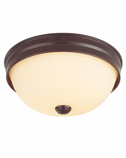 1076-13 Savoy House Lighting Flush Mount  In English Bronze Finish