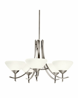 10776AP Kichler Olympia 5Lt Fluorescent Chandelier 1 Tier Medium