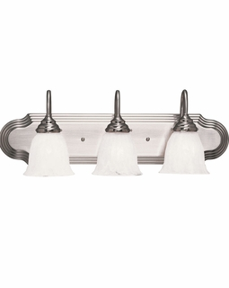 1079-3SN Savoy House Traditional Summergrove 3 Light Bath Bar with Satin Nickel Finish