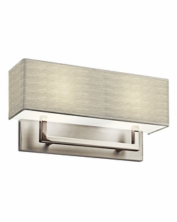 10796SN Kichler Contemporary Wall Sconce 2 Lt Fluorescent - Satin Nickel