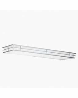 10802SI Builder Contemporary Pavilion Linear Ceiling 52in Fluorescent (silver various)