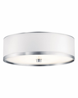 10803BA Builder Transitional Pira Flush Mount 1Lt Fluorescent (brushed aluminum)