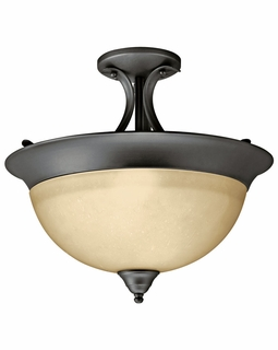 10823OZ Kichler Olde Bronze Semi Flush 1Lt Fluorescent Ceiling Lights (DISCONTINUED ITEM!)