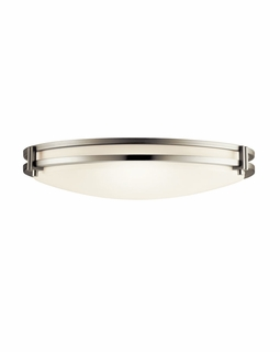10827NI Builder Contemporary Flush Mount 2Lt Fluorescent (brushed nickel)