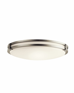 10828NI Kichler Contemporary Flush Mount 3Lt Fluorescent - Brushed Nickel