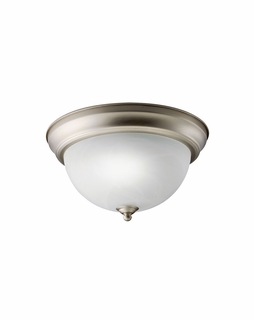 10835ESNI Builder Utilitarian Flush Mount 1Lt Fluorescent (brushed nickel)
