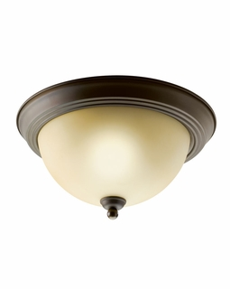 10835OZ Kichler Builder 1Lt Fluorescent Flush Mount