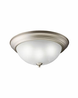 10837NI Builder Transitional Flush Mount 2Lt Fluorescent (brushed nickel)