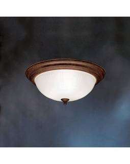 10865TZ Kichler Builder 3Lt Fluorescent Flush Mount