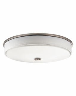 10885NI Builder Transitional Santiago Flush Mount 2Lt Fluorescent (brushed nickel)