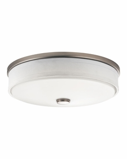 10886NI Kichler Transitional Santiago Flush Mount 3Lt Fluorescent - Brushed Nickel