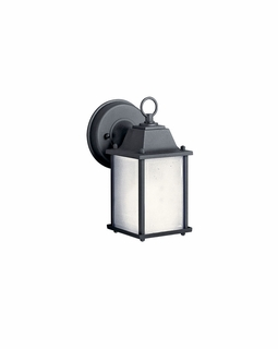 10923BK Kichler Transitional Outdoor Wall 1Lt Fluorescent - Black