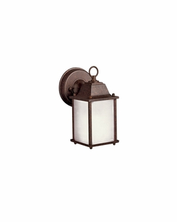 10923TZ Kichler Transitional Outdoor Wall 1Lt Fluorescent - Tannery Bronze