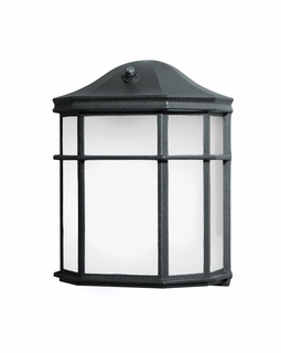 10941BK Builder Utilitarian Outdoor Wall 1Lt Fluorescent (black)