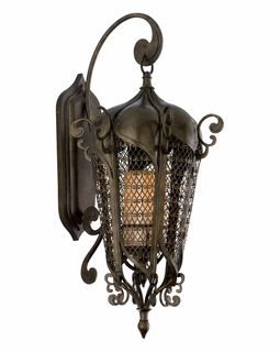110-22 Corbett Lighting Tangiers 1 Light Medium Wall Lantern in Tangiers Bronze