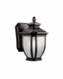 11001RZ Kichler Transitional Salisbury Outdoor Wall 1Lt Fluorescent - Rubbed Bronze