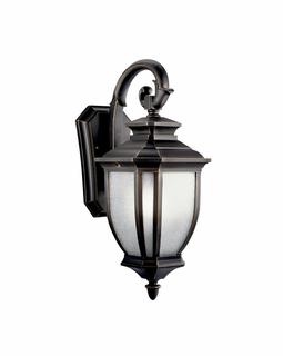 11002RZ Kichler Transitional Salisbury Outdoor Wall 1Lt Fluorescent - Rubbed Bronze