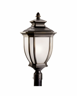 11009RZ Kichler Salisbury Outdoor Post Mount 1Lt Fluorescent Lantern
