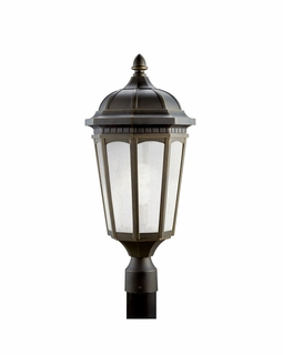 11014RZ Kichler Traditional Courtyard Outdoor Post Mount 1Lt Flood (rubbed bronze)