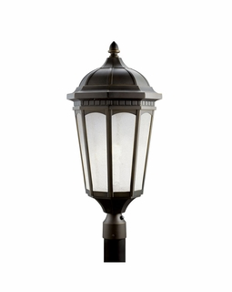 11015RZ Kichler Builder Courtyard Outdoor Post Mount 1Lt Fluorescent Lantern