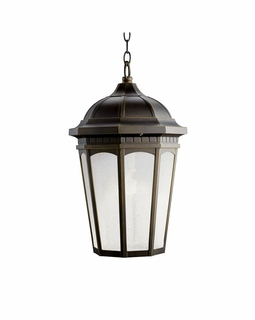 11016RZ Kichler Traditional Courtyard Outdoor Pendant 1Lt FL (rubbed bronze)