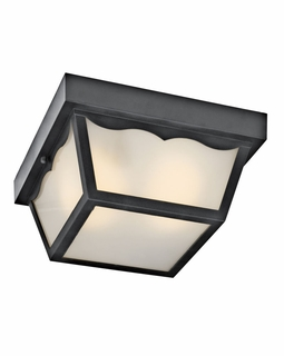 11026BK Kichler Builder 1Lt Fluorescent Outdoor Flush and Semi Flush Mount