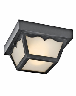 11027BK Kichler Builder 2Lt Fluorescent Outdoor Flush and Semi Flush Mount