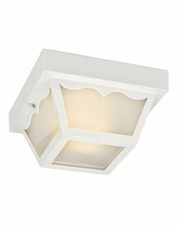 11027WH Kichler Builder 2Lt Fluorescent Outdoor Flush and Semi Flush Mount