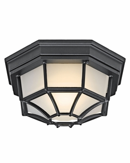 11028BK Builder Utilitarian Outdoor Ceiling 1Lt Flood (black)