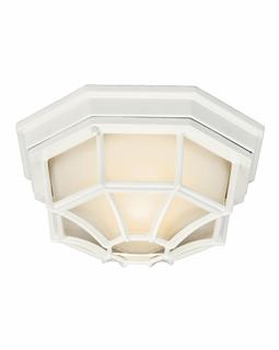 11028WH Builder Utilitarian Outdoor Ceiling 1Lt Flood (white)