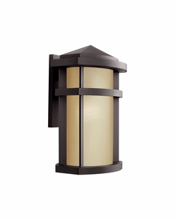 11069AZ Kichler Contemporary Lantana Outdoor Wall 1Lt Fluorescent (architectural bronze)