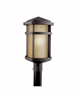 11070AZ Kichler Lantana Outdoor Post Mount 1Lt Fluorescent Lantern