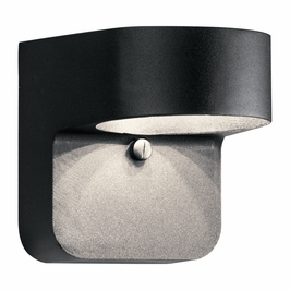 11077BKT Kichler Utilitarian Outdoor Wall 1Lt LED Textured Black