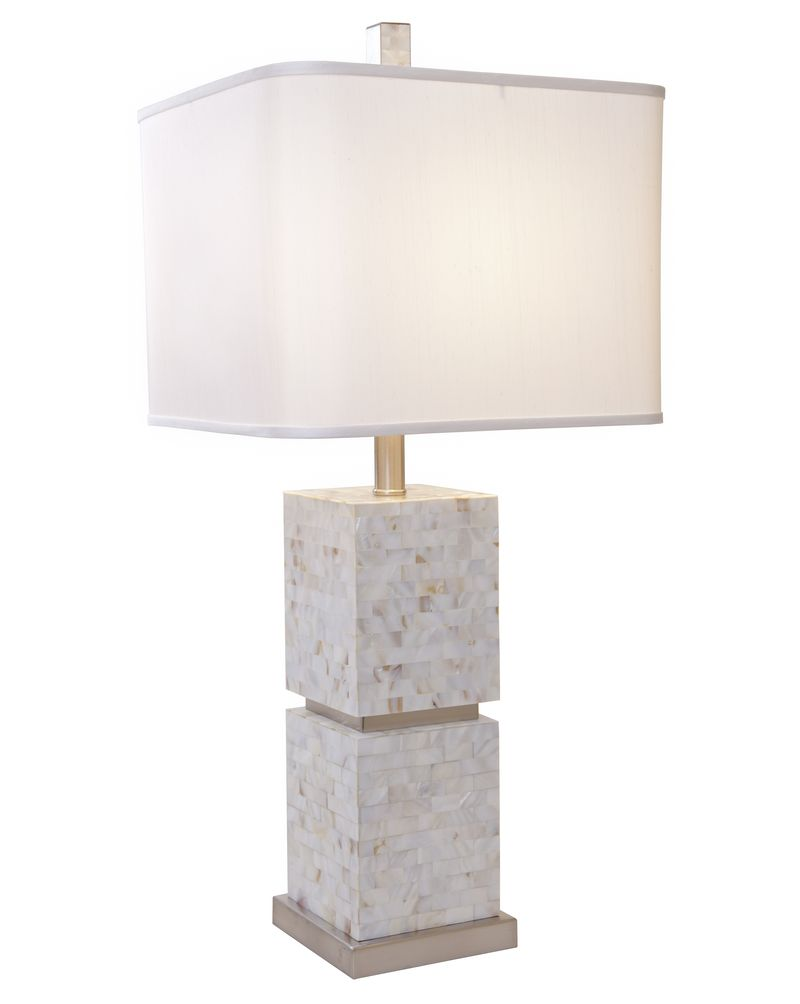 1108 Asl 2069 Thumprints Seaside Table Lamp Brushed Nickel Finish