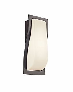 11095AZ Kichler Architectural Bronze Outdoor Sconce 1Lt Fluorescent Outdoor (DISCONTINUED ITEM!)