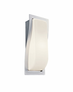 11095BA Kichler Brushed Aluminum Outdoor Sconce 1Lt Fluorescent Outdoor (DISCONTINUED ITEM!)