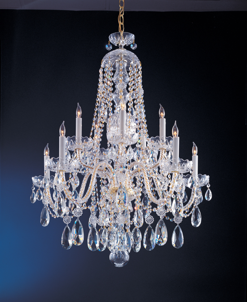 1110 pb cl saq crystorama traditional crystal swarovski spectra crystal chandelier - Traditional crystal chandeliers ...