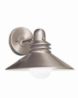 11100NI Kichler Brushed Nickel Wall Sconce 1Lt Fluorescent Wall Light (DISCONTINUED ITEM!)