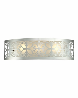 11432/3 ELK Lighting Willow Bend 3-Light Vanity Sconce in Polished Chrome with Metal and Glass Shade