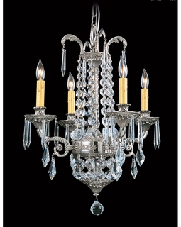 1144 Framburg Lighting Baronness Four-Light Chandelier