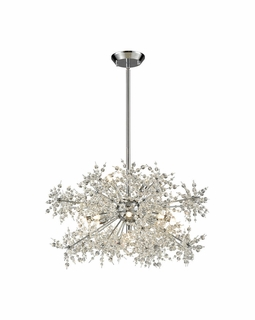 11894/11 Elk Snowburst 11 Light Chandelier In Polished Chrome