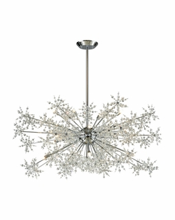11896/20 Elk Snowburst 20 Light Chandelier In Polished Chrome