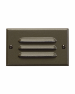 12600AZ Kichler Utilitarian Step and Hall 120V LED Step Light Horiz. Louver - Architectural Bronze