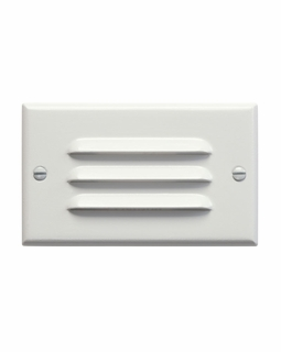 12600WH Kichler Utilitarian Step and Hall 120V LED Step Light Horiz. Louver - White