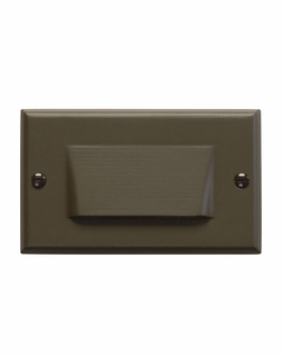 12602AZ Kichler Utilitarian Step and Hall 120V LED Step Light Shielded - Architectural Bronze
